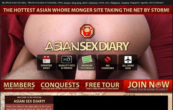 Free Asiansexdiary.com Accounts